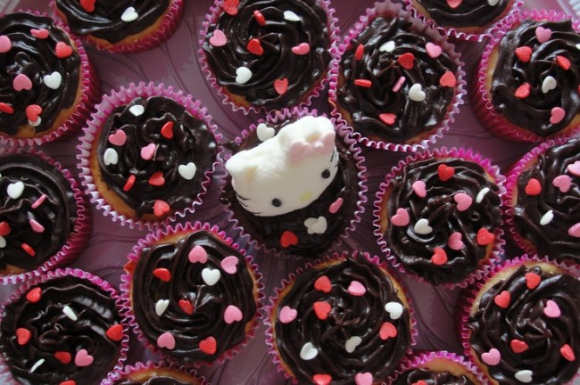 Decorados com amor e marshmallow de Hello Kitty